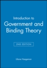 Image for Introduction to Government and Binding Theory