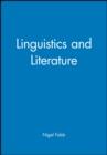 Image for Linguistics and literature