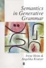 Image for Semantics in generative grammar