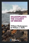 Image for Shakespeare's the Comedy of Errors