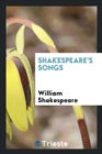 Image for Shakespeare's Songs