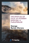Image for The Epistles of Paul in Modern English : A Paraphrase