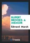Image for Rupert Brooke : A Memoir