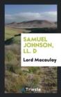 Image for Samuel Johnson, LL. D
