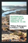 Image for Shakespeare's Comedy of the Merchant of Venice; Pp. 12-236