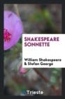 Image for Shakespeare Sonnette, Umdichtung Von Stefan George. [publisher's Device]