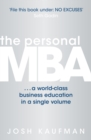 Image for The personal MBA  : a world-class business education in a single volume