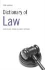 Image for Dictionary of law