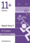 Image for 11+ Maths Rapid Tests Book 3: Year 4, Ages 8-9
