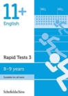 Image for 11+ English Rapid Tests Book 3: Year 4, Ages 8-9