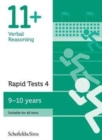Image for 11+ Verbal Reasoning Rapid Tests Book 4: Year 5, Ages 9-10