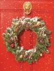 Image for Red Door Wreath Embellished Notecards