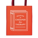 Image for Reading is Cheaper Than Therapy Reusable Shopping Bag