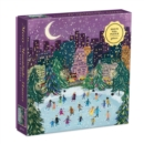 Image for Merry Moonlight Skaters 500 Piece Foil Puzzle