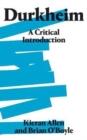 Image for Durkheim  : a critical introduction