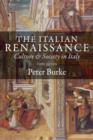 Image for The Italian Renaissance  : culture and society in Italy
