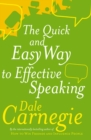 Image for The quick & easy way to effective public speaking