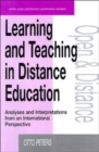 Image for Learning and teaching in distance education analyses and interpretations from an international perspective