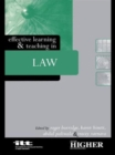 Image for Effective learning & teaching in law