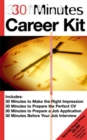 """Image for 30 minutes career kit : """"30 Minutes to Prepare the Perfect CV"""", """"30 Minutes to Prepare a Job Application"""", """"30 Minutes Befor"""