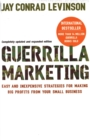 Image for Guerrilla marketing  : easy and inexpensive strategies for making big profits from your small business
