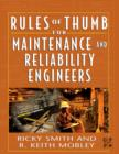 Image for Rules of thumb for maintenance and reliability engineers