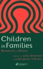 Image for Children in families  : research and policy