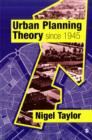 Image for Urban planning theory since 1945