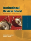Image for Institutional review board  : management and function
