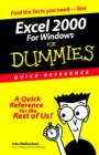 Image for Excel 2000 for Windows for dummies  : quick reference