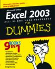 Image for Excel 2003 all-in-one desk reference for dummies