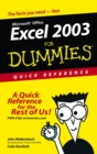 Image for Excel 2003 for dummies  : quick reference