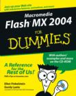 Image for Macromedia Flash MX 2004 for dummies  : by Ellen Finkelstein and Gurdy Leete