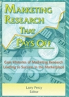 Image for Marketing Research That Pays Off : Case Histories of Marketing Research Leading to Success in the Marketplace