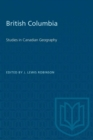 Image for British Columbia : Studies in Canadian Geography