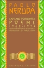 Image for Late and Posthumous Poems, 1968-1974 : Bilingual Edition
