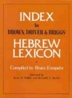 Image for Index to Brown, Driver & Briggs Hebrew lexicon