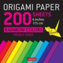 Image for Origami Paper 200 Sheets : Rainbow Colors