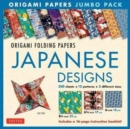 Image for Origami Papers Jumbo Pack - Japanese Designs : 300 High-Quality Origami Papers in 3 Sizes (6 Inch; 6 3/4 Inch and 8 1/4 Inch) and a 16-Page Instructional Origami Book