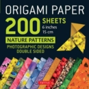 """Image for Origami Paper 200 Sheets Nature Patterns 6"""" (15 CM) : Photographic Designs from Nature (12 Designs; 8-Page Booklet)"""