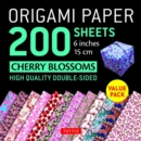 Image for Origami Paper 200 sheets Cherry Blossoms 6 inch (15 cm) : High-Quality Origami Sheets Printed with 12 Different Colors : Instructions for 8 Projects Included