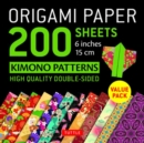 Image for Origami Paper 200 sheets Kimono Patterns 6 (15 cm)