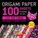 Image for Origami Paper 100 sheets Cat Patterns 6 (15 cm)
