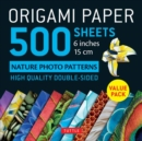 Image for Origami Paper 500 sheets Nature Photo Patterns 6 (15 cm)