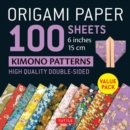 """Image for Origami Paper 100 sheets Kimono Patterns 6"""" (15 cm) : High-Quality Double-Sided Origami Sheets Printed with 12 Different Patterns (Instructions for 6 Projects Included)"""
