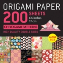 """Image for Origami Paper 200 sheets Chiyogami Patterns 6 3/4"""" (17cm) : Tuttle Origami Paper: High Quality, Double-Sided Origami Sheets with 12 Different Patterns (Instructions for 6 Projects Included)"""