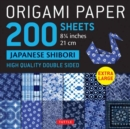 """Image for Origami Paper 200 sheets Japanese Shibori 8 1/4"""" (21 cm) : Extra Large Tuttle Origami Paper: High Quality, Double-Sided Sheets (12 Designs & Instructions for 6 Projects Included)"""