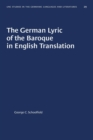 Image for The German Lyric of the Baroque in English Translation