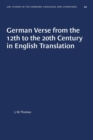 Image for German Verse from the 12th to the 20th Century in English Translation