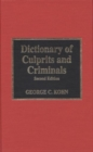 Image for Dictionary of Culprits and Criminals